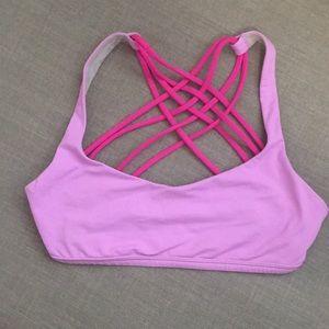 Lululemon pink yoga sports bra size 4